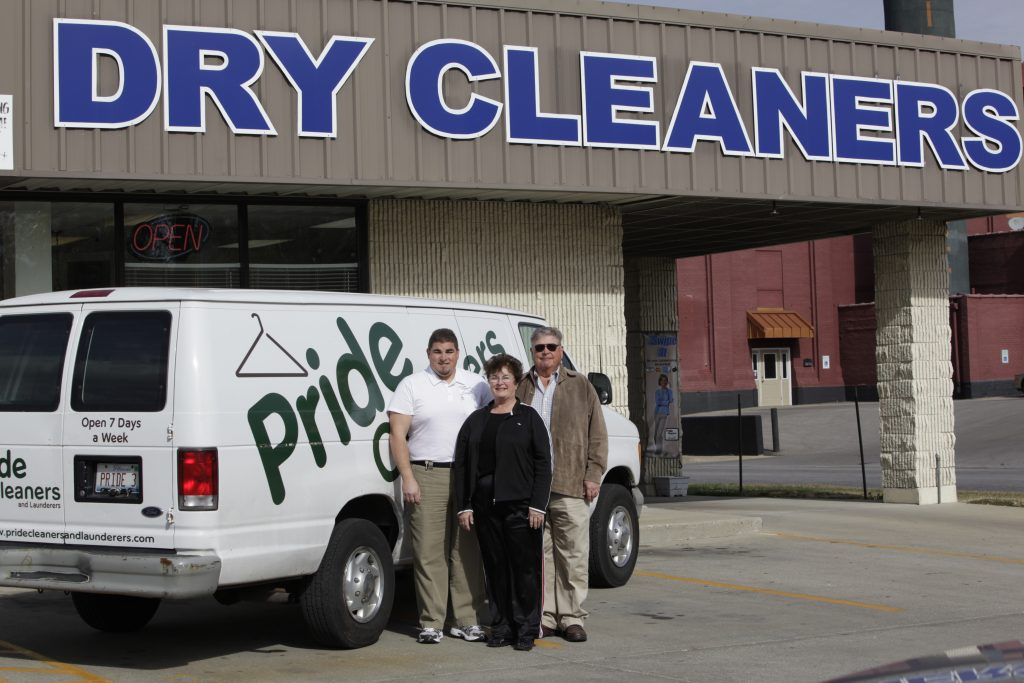 dry cleaning delivery truck